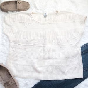 Old Navy Cream Short Sleeved Sweater